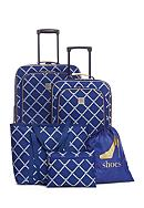 New Directions® 5-Piece Rope Lattice Luggage