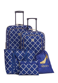 New Directions® 5-Piece Rope Lattice Luggage Set