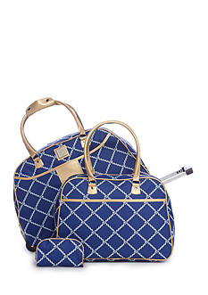 New Directions® 3-Piece Rope Lattice Luggage Set