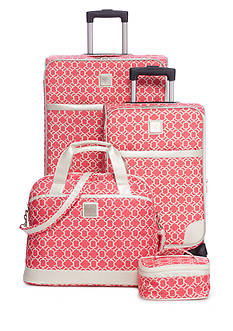 New Directions 4-piece Lady Lattice Luggage Set