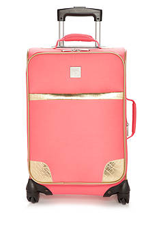 New Directions I Fly Free Coral Gold Croc Suitcase