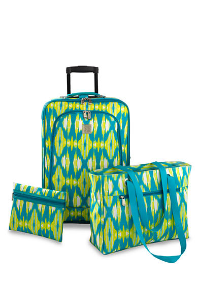 New Directions® 3-Piece Luggage Set- Ikat