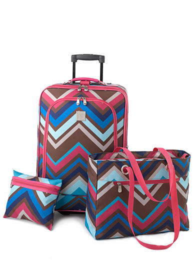 New Directions® 3-Piece Luggage Set - Zigzag