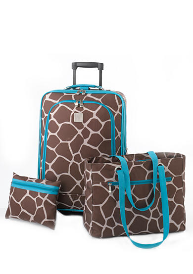 New Directions® 3-Piece Luggage Set - Giraffe