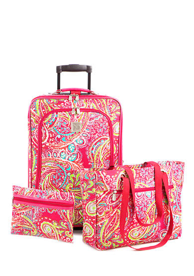 New Directions® 3-Piece Luggage Set- Pink Paisley