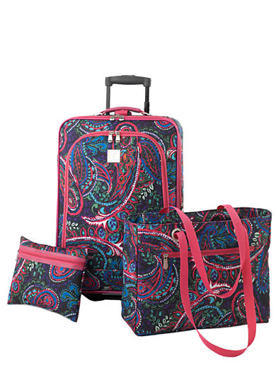 New Directions® 3-Piece Luggage Set - Pink Multi Paisley