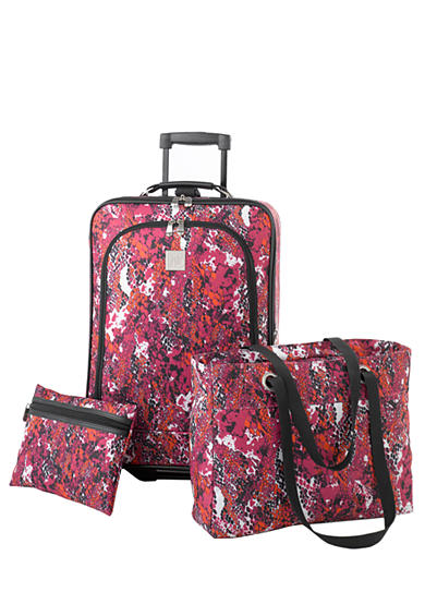 New Directions® 3-Piece Luggage Set - Pink Snake
