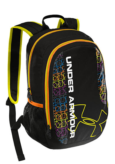 Under Armour® Dauntless Backpack Black with Leopard and Hi-Vis Yellow