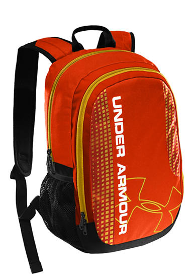 Under Armour® Dauntless Backpack Dark Orange with Black
