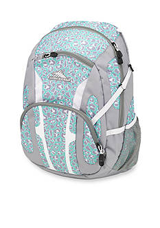 High Sierra Composite Mint Leopard Backpack