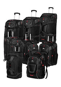 High Sierra Adventure Travel 7 Luggage Collection Black - Online Only