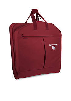 WallyBags® Oklahmoa Sooners 40-in. Garment Bag with Pockets