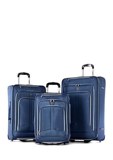 olympia luggage hamburg luggage 3 piece set blue belk