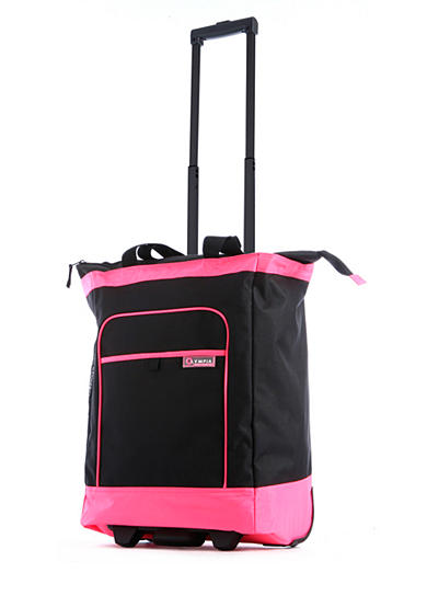 Olympia Luggage Deluxe Rolling Shopper Tote - Online Only