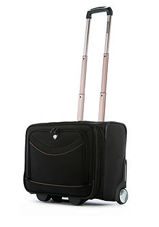 Olympia Luggage Deluxe Rolling Overnighter - Black
