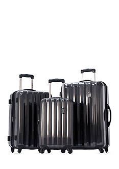 Olympia Luggage Titan Hardside Luggage Collection - Black