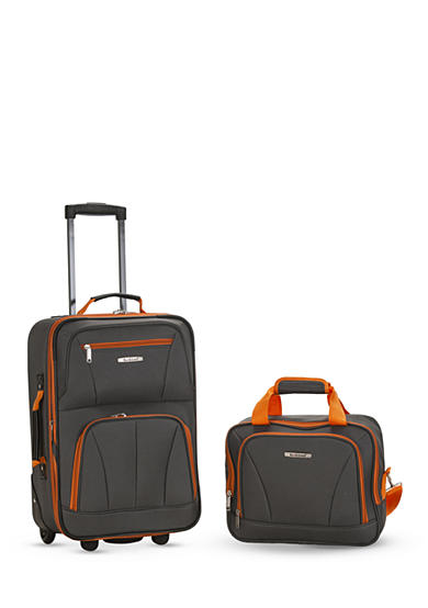 Rockland 2 Piece Luggage Set - Charcoal