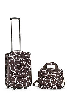 Rockland 2 Piece Luggage Set - Giraffe