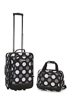 Rockland 2 Piece Luggage Set - New Black Dot