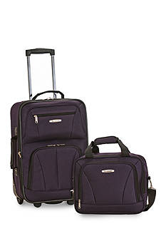 Rockland 2 Piece Luggage Set - Purple
