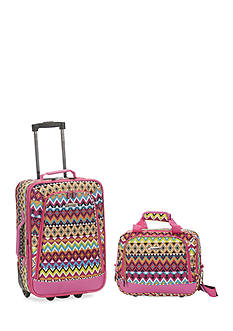 Rockland 2 Piece Luggage Set - Tribal