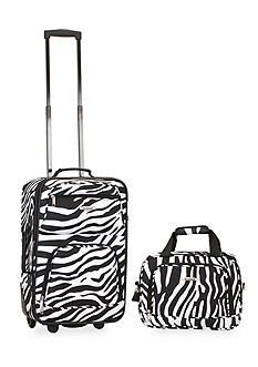 Rockland 2 Piece Luggage Set - Zebra