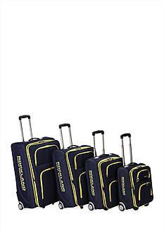 4 Piece Varsity Rockland Polo Equipment Upright Luggage Set - Navy