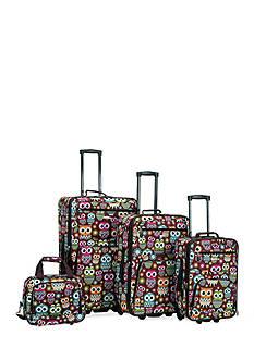 Rockland 4 Piece Printed Luggage Set - Owl
