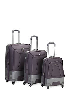 Rockland 3 Piece Rome Hybrid Spinner Luggage Set