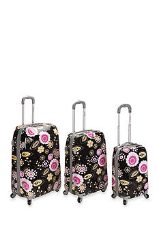 Rockland 3 Piece Vision Luggage Set - Pucci