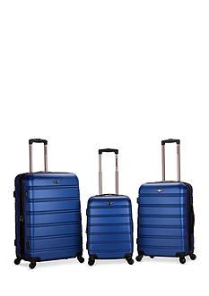 Rockland Melbourne 3 Piece ABS Luggage Set
