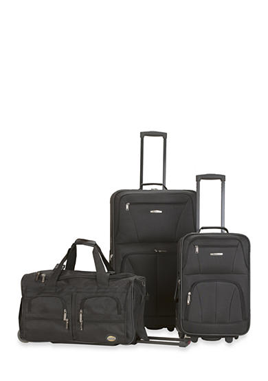 Rockland 3 Piece Luggage Set - Black