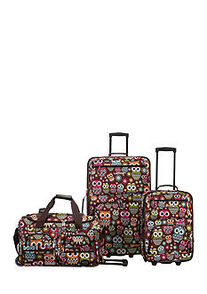 Rockland 3 Piece Expandable Luggage Set