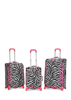 Rockland Fusion 3 Piece Spinner Luggage Set