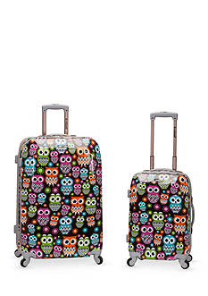 Rockland 2 Piece Polycarbonate/ABS Upright Luggage Set
