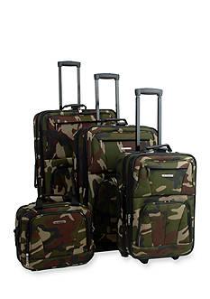 Rockland 4 Piece Luggage Set - Camo