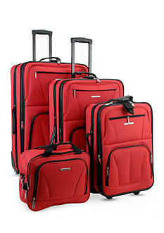 Rockland 4 Piece Luggage Set - Red