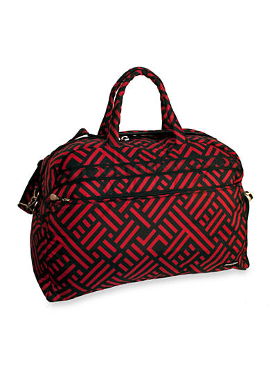 Jenni Chan™ Soft Gym Duffel - Black Red