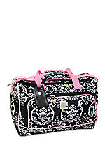 Damask City Black Pink Duffel