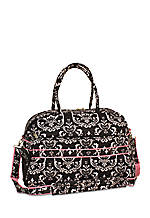 Damask City Black Pink Gym Duffel