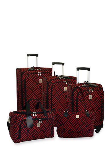 Jenni Chan™ Signature Luggage Collection -  Black Red