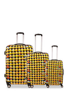 ful Emoji Hardside Luggage 3 Piece Set