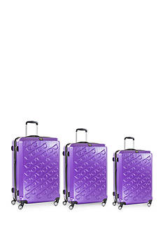 ful® Three Piece Set Sunglasses Hard Case Spinner Upright Luggage