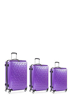 ful Three Piece Set Hearts Hard Case Spinner Upright Luggage