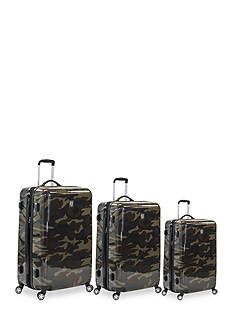 ful® Three Piece Set Ridgeline Hard Case Spinner Upright Luggage In Camo