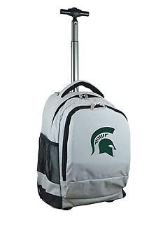 Mojo Michigan State Premium Wheeled Backpack