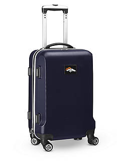 Denco Denver Broncos 20-in. 8 wheel ABS Plastic Hardsided Carry-on