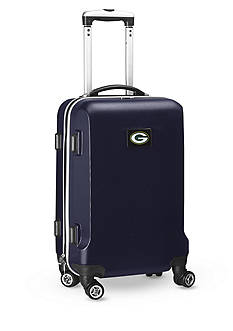 Denco Green Bay Packers 20-in. 8 wheel ABS Plastic Hardsided Carry-on