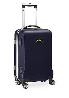 Denco San Diego Chargers 20-in. 8 wheel ABS Plastic Hardsided Carry-on
