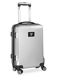 Denco Pittsburgh Penguins 20-in. 8 wheel ABS Plastic Hardsided Carry-on
